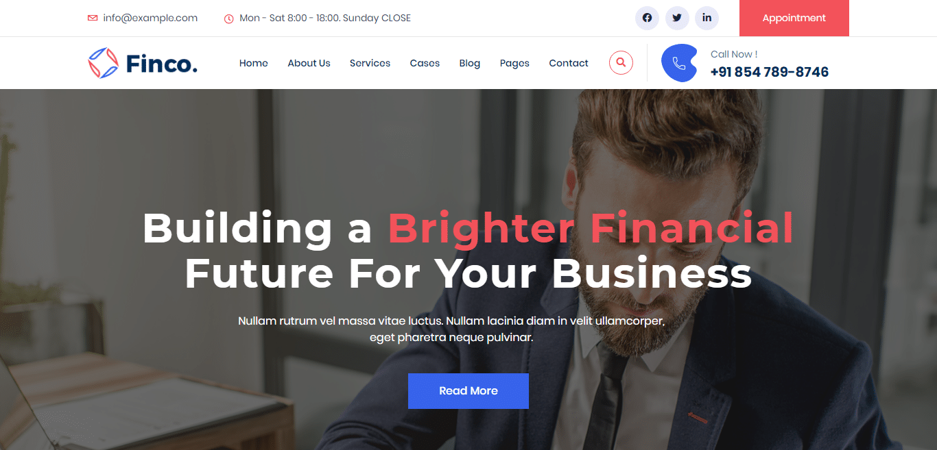 finco-consulting-website-template