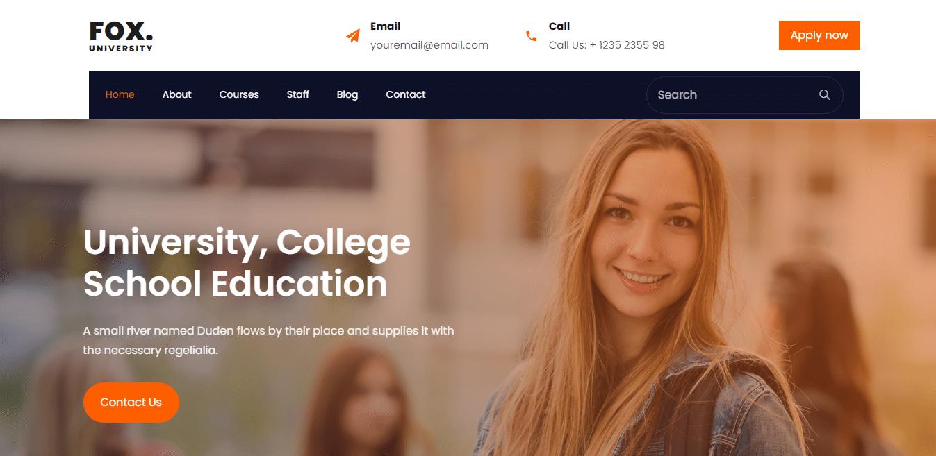 fox-kindergarten-website-template