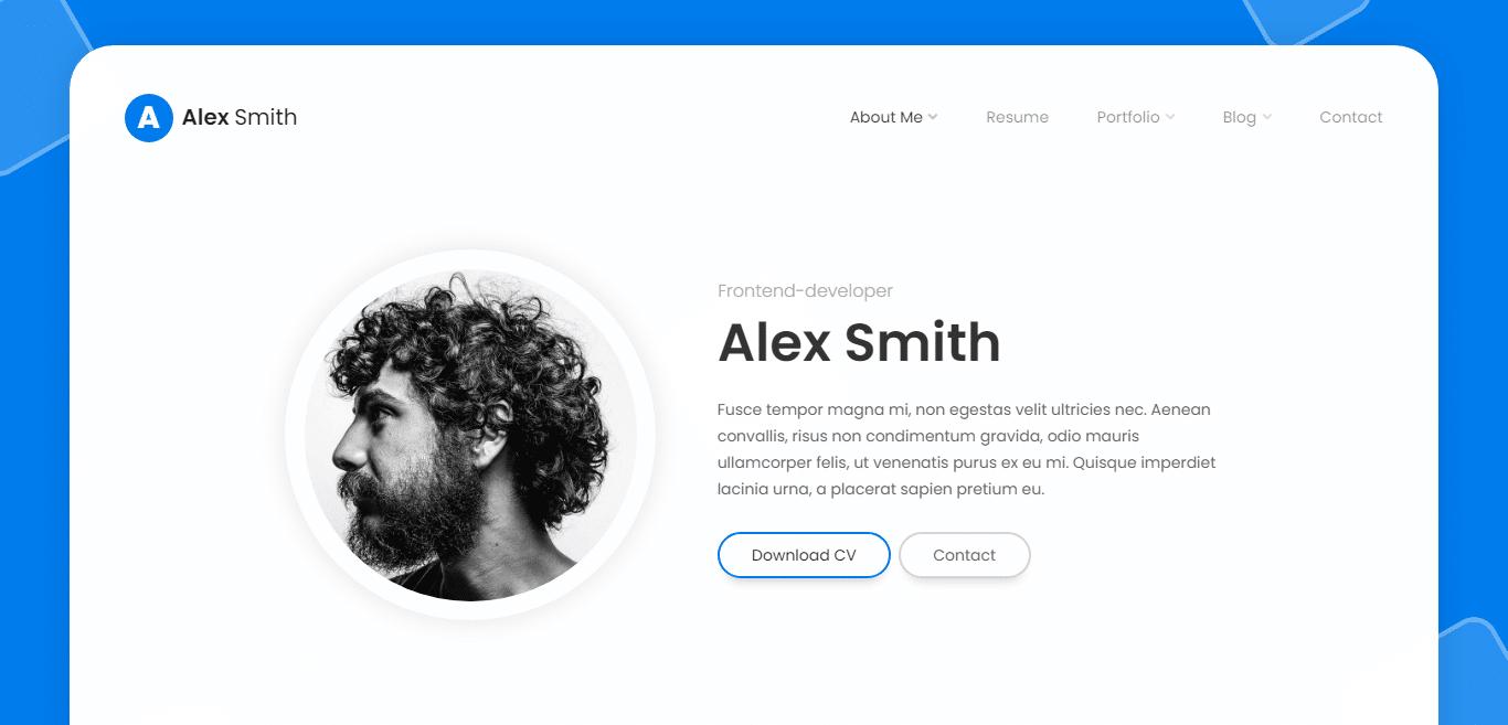leven-resume-website-template