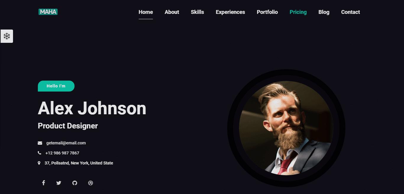 maha-resume-website-template