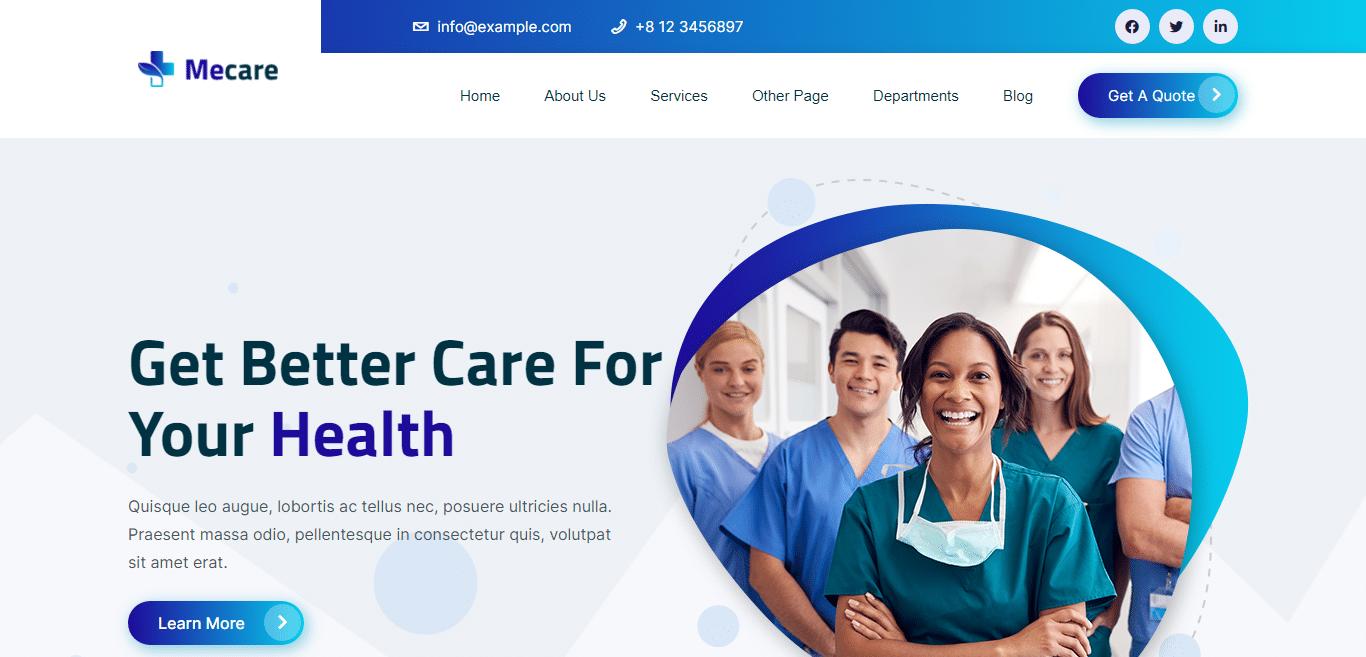 mecare-hospital-website-template