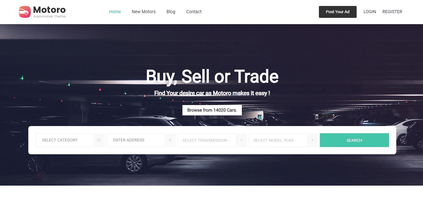 motoro-automotive-website-template