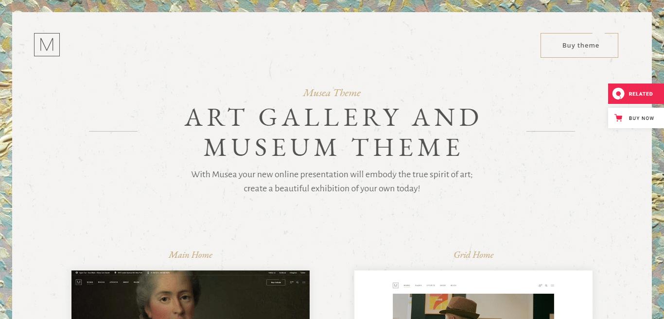 musea-gallery-website-template