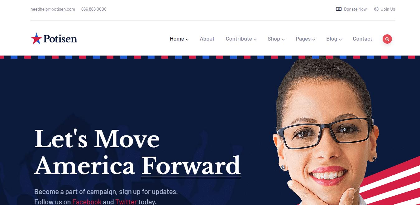 potisen-political-website-template