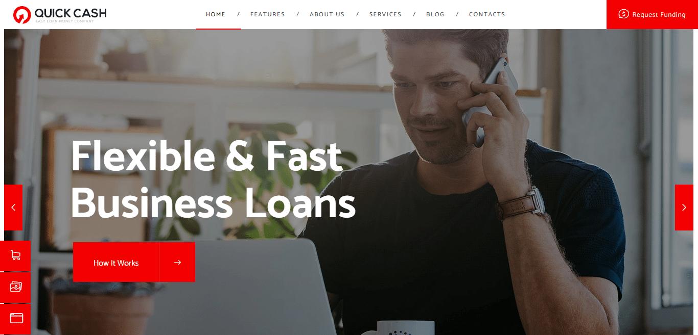 quickcash-finance-website-template