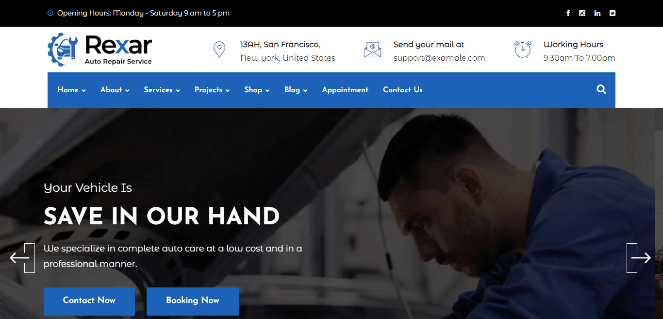 rexar-automotive-website-template