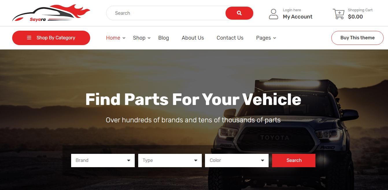 sayara-automotive-website-template