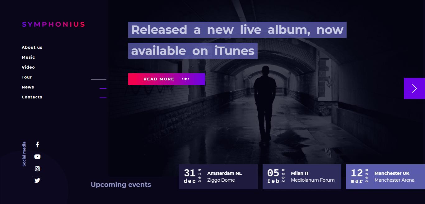 symphonius-music-website-template