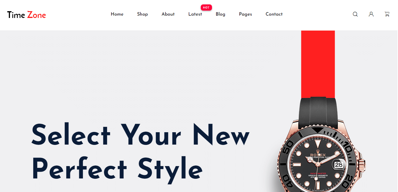 timezone-free-ecommerce-website-template