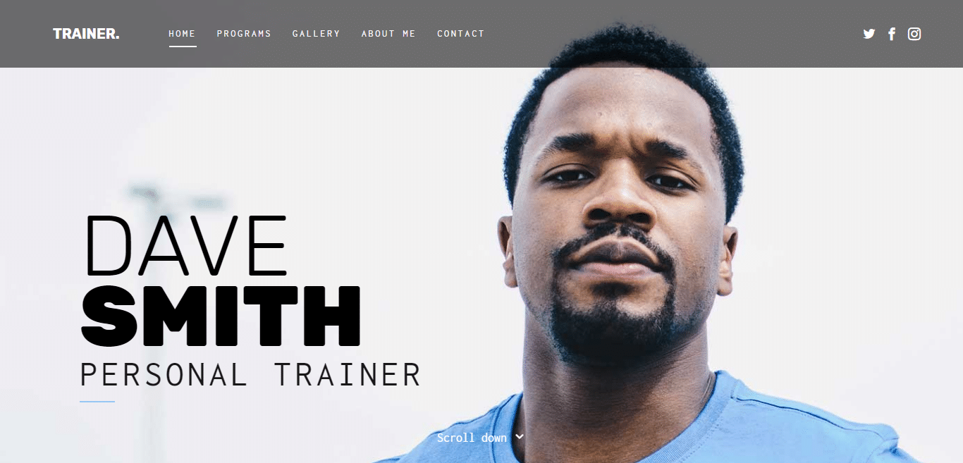 trainer-free-bootstrap-website-template