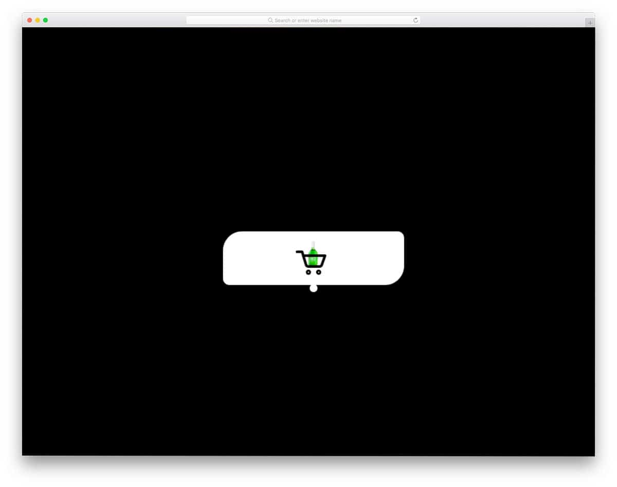 CSS button animation example