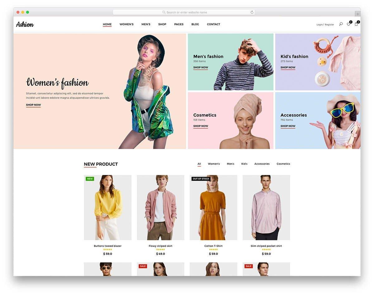 sensibly designed responsive eCommerce website template