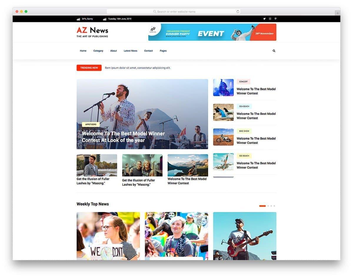 feature-rich news website template