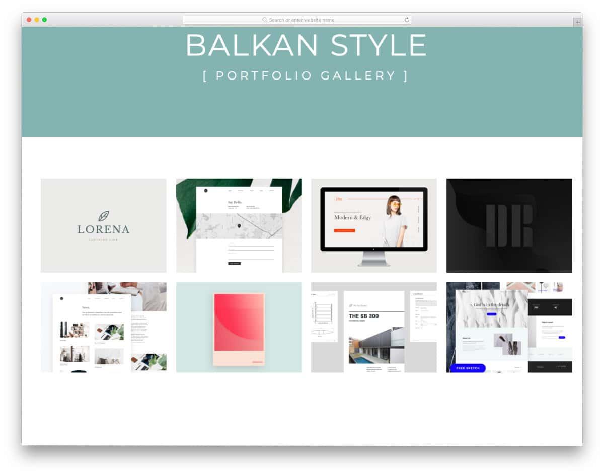 gallery for portfolios
