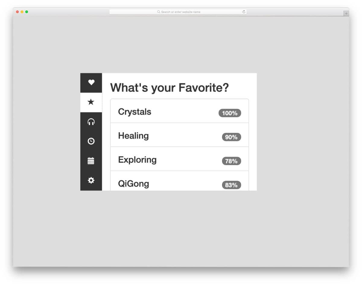 vertical tab design ideas
