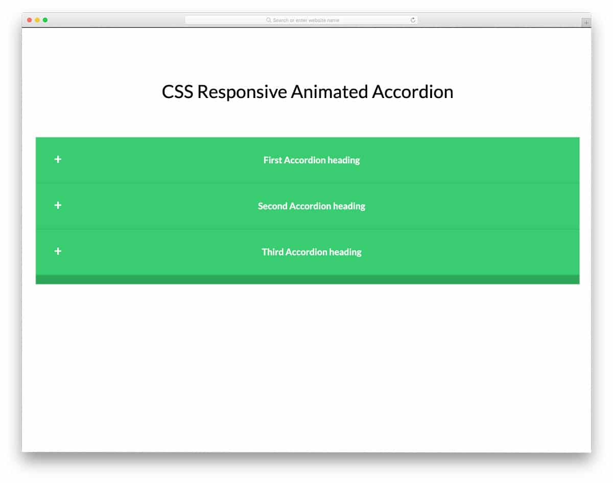 accordion with smooth animations