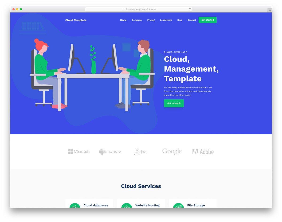 free hosting website template cloud hosting companies