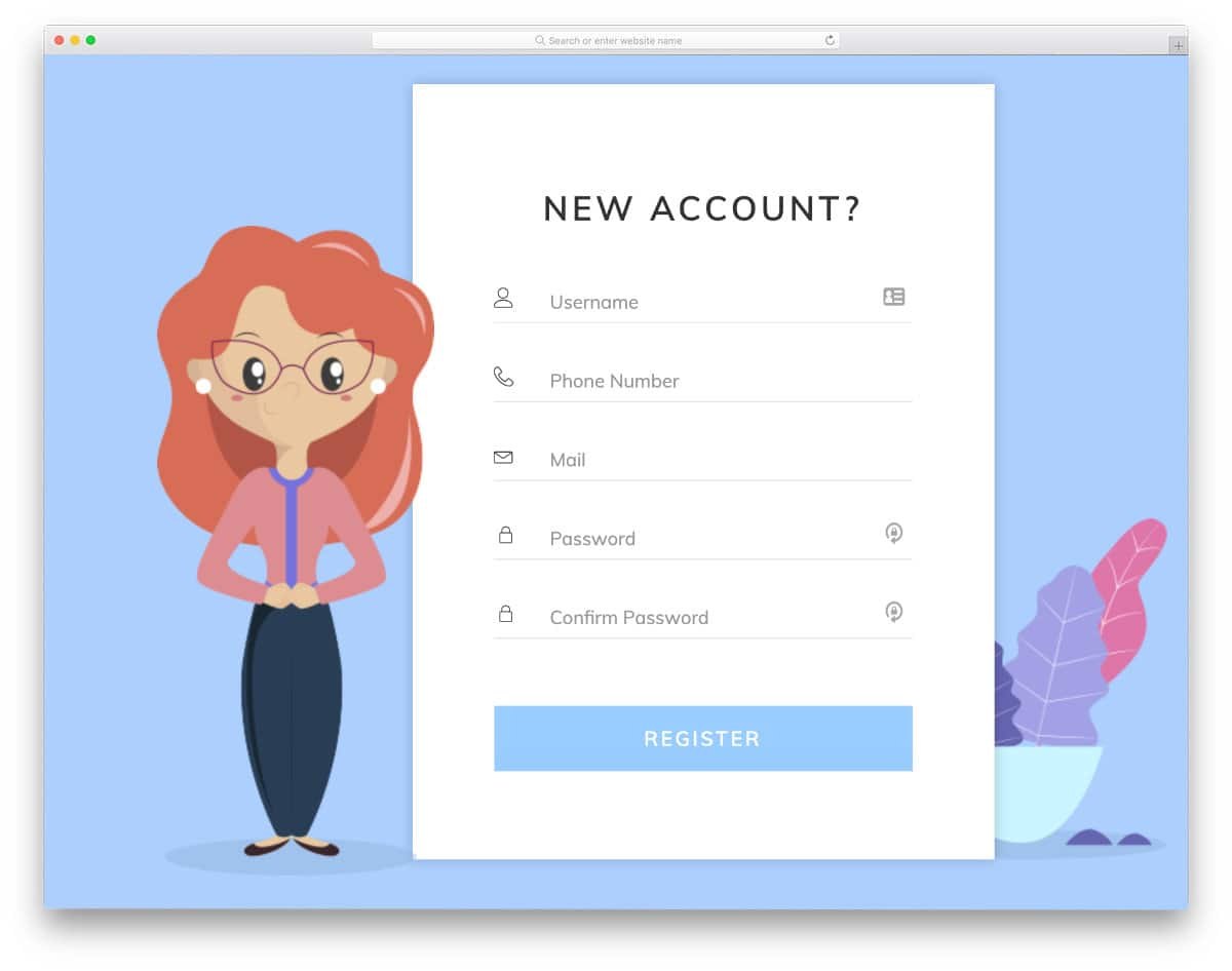 free contact form with a modern design