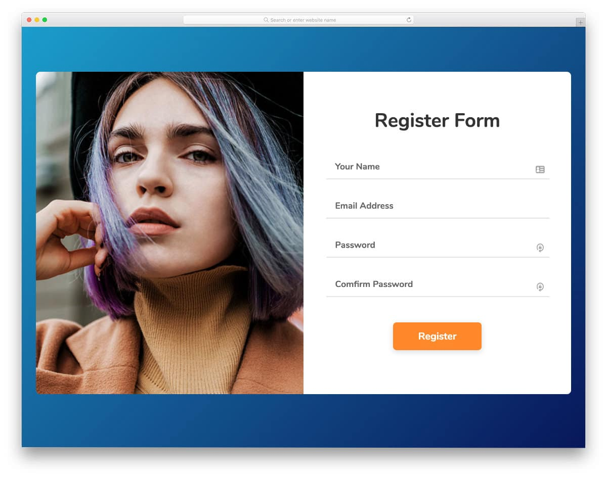 neat and responsive free contact form