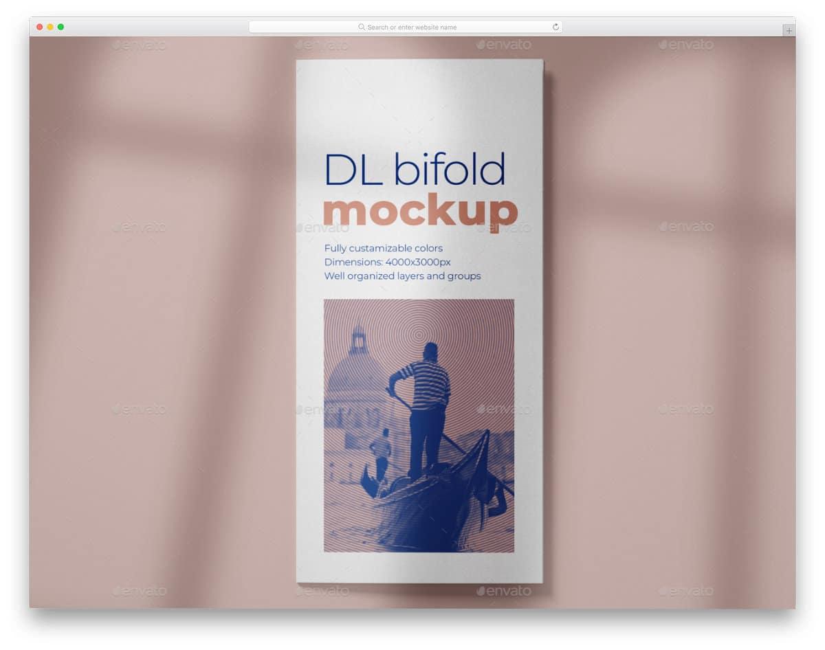 DL size brochure mockup