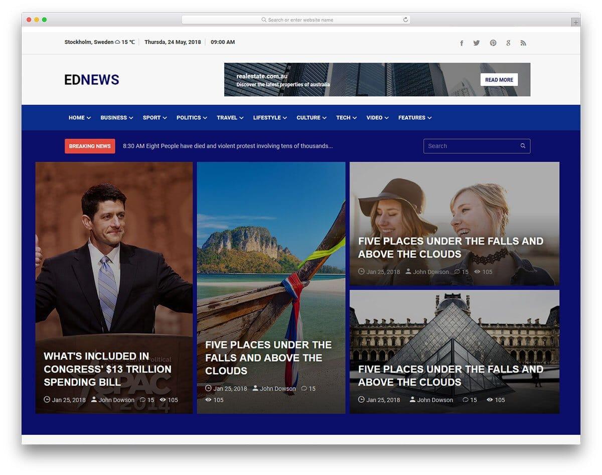 interactive website template