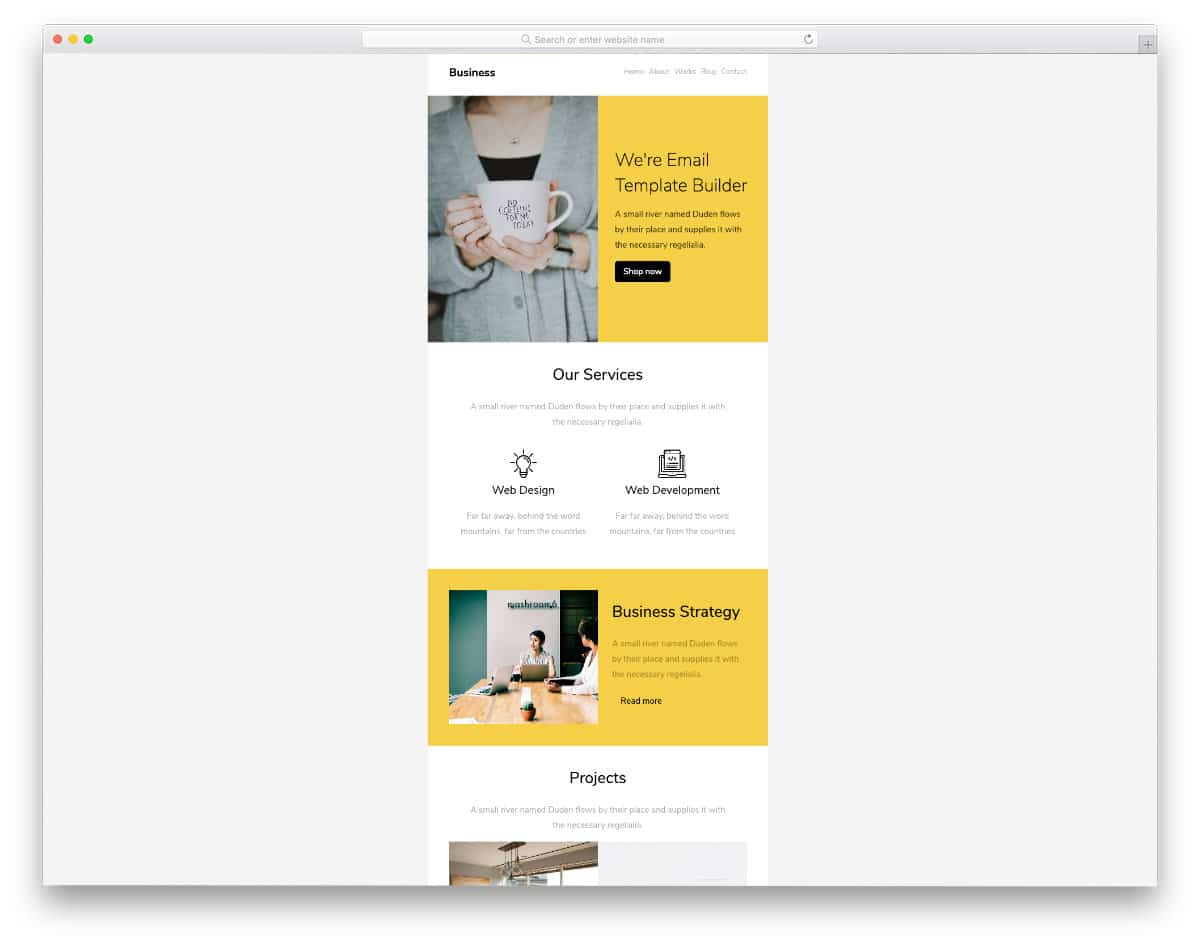 free business responsive email templates