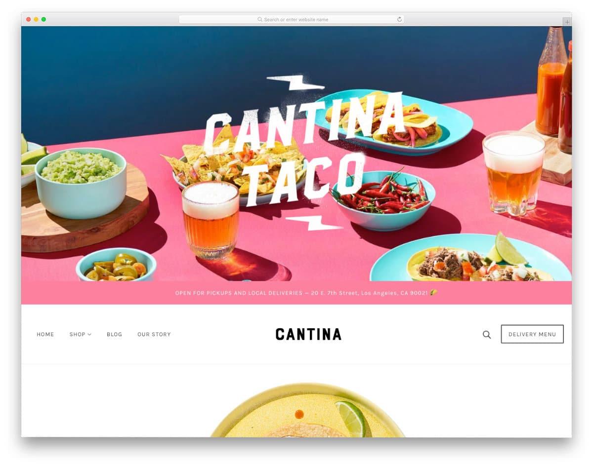 shopify theme with a unique design