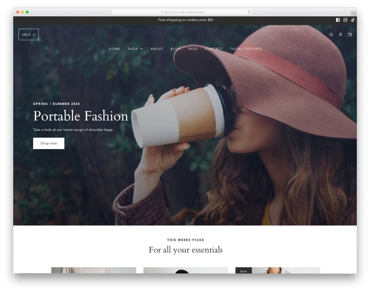 minimal shopify themes for small apparel stores