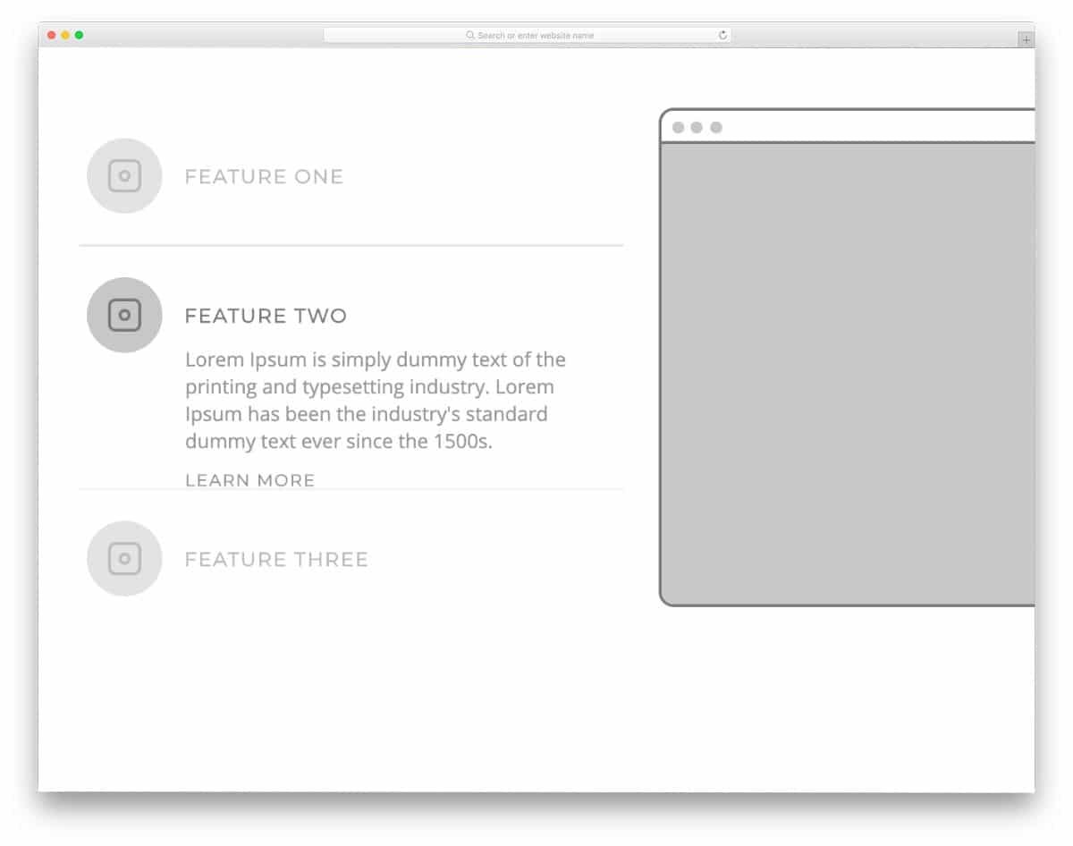 accordion for interactive content presentation