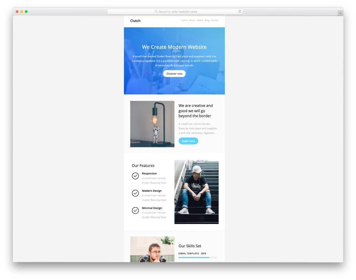 clean email templates