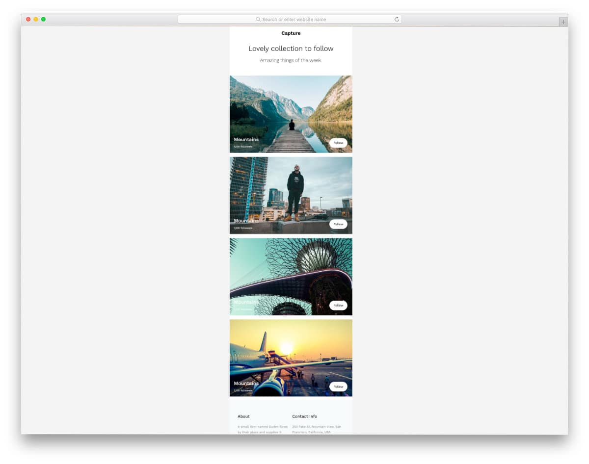 free responsive email template for blogs and forums
