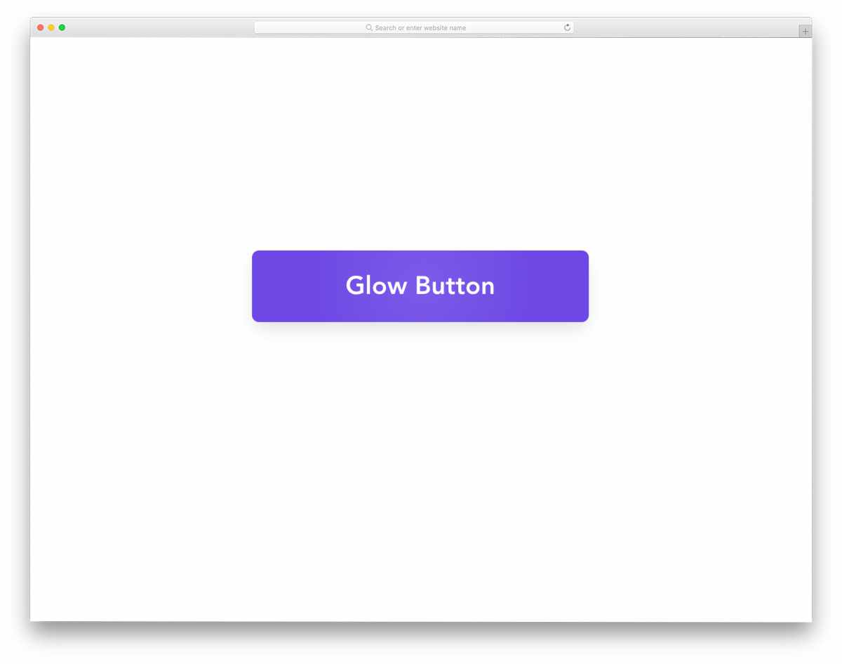 simple hover activated glow button