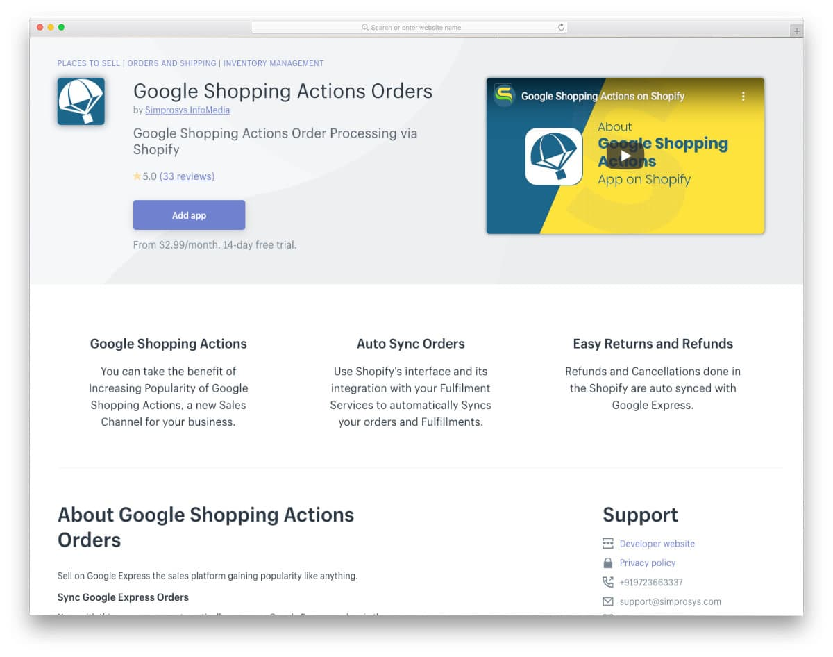 app that syncs your product with google stores