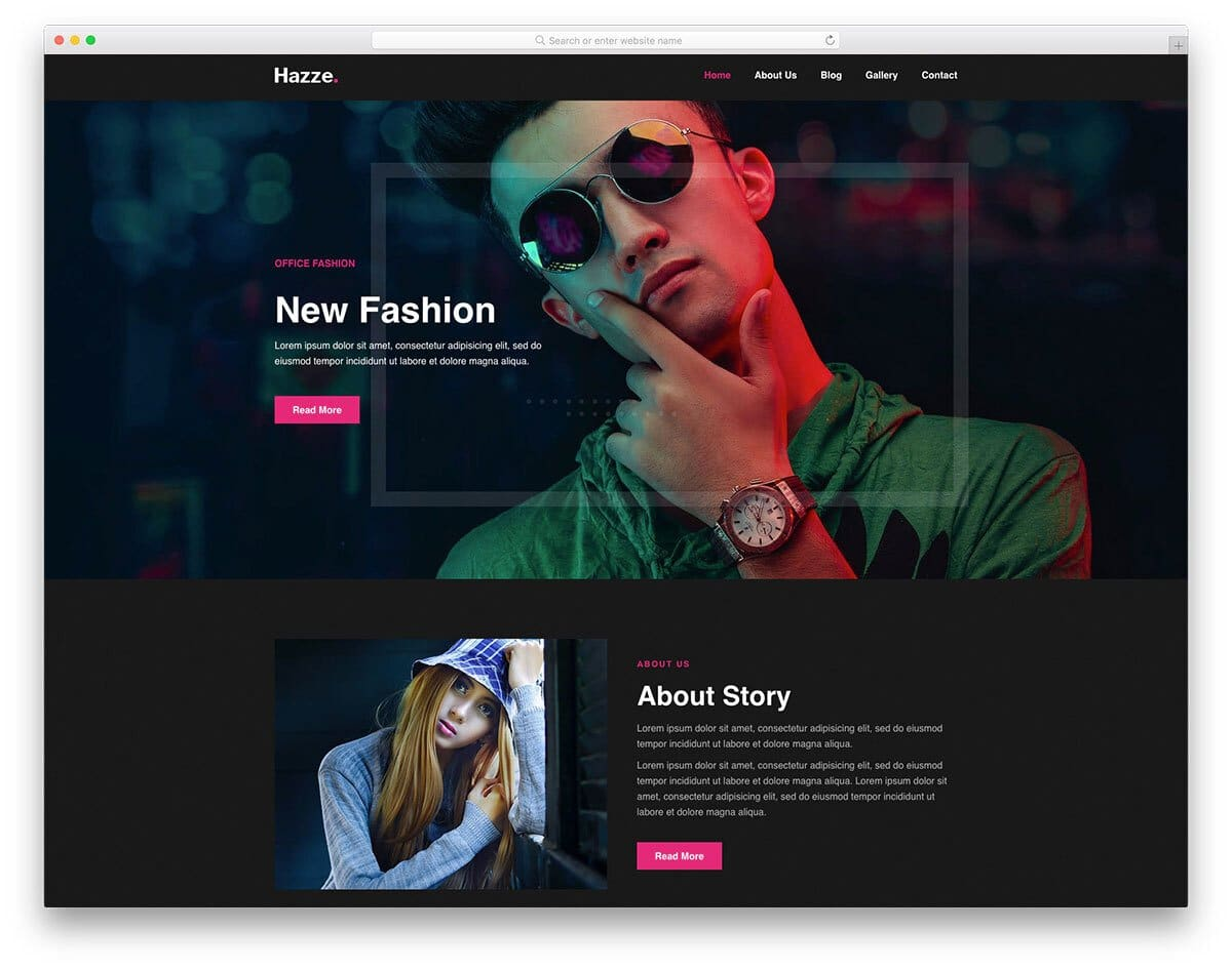 actor and fashion models website template