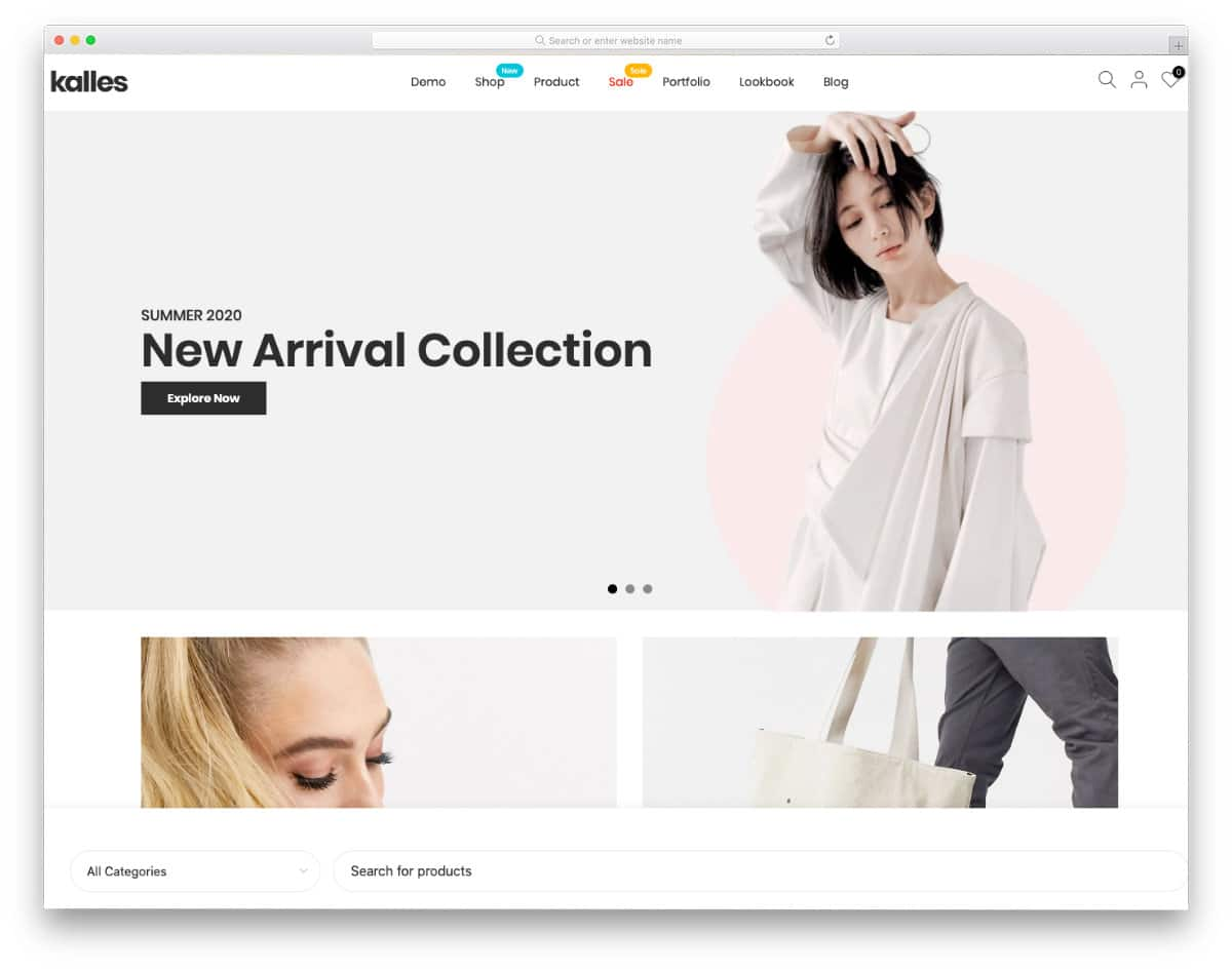 shopify theme with eas customization options