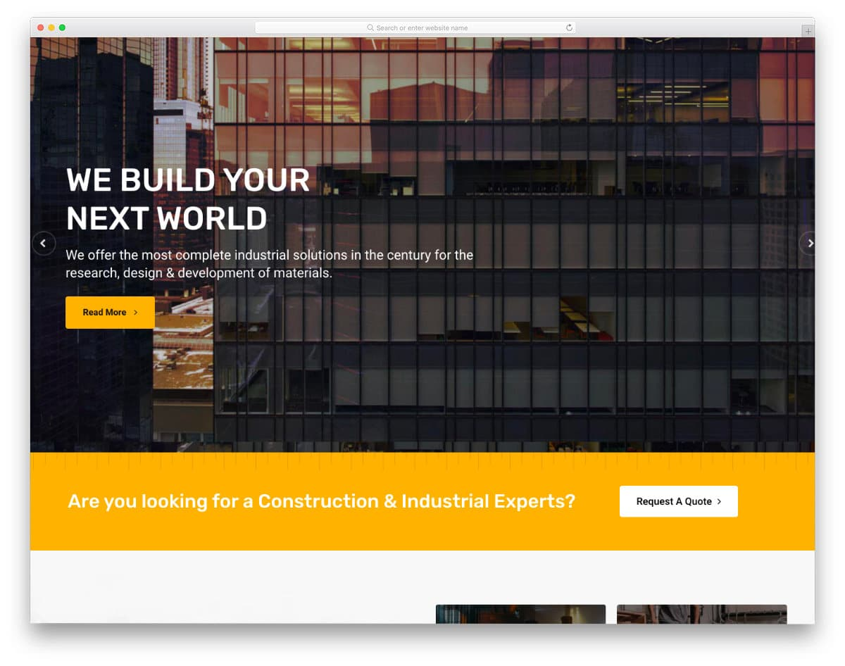 luxury business and construction website template