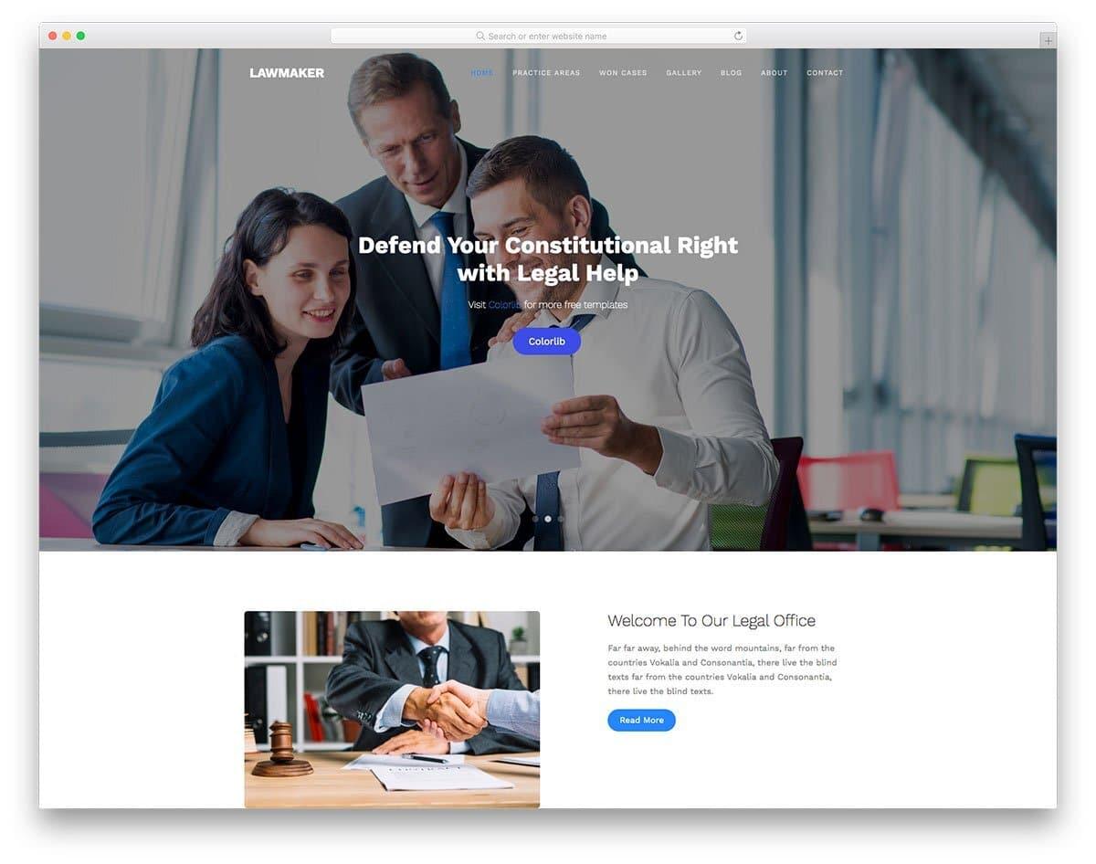 premium-looking website template