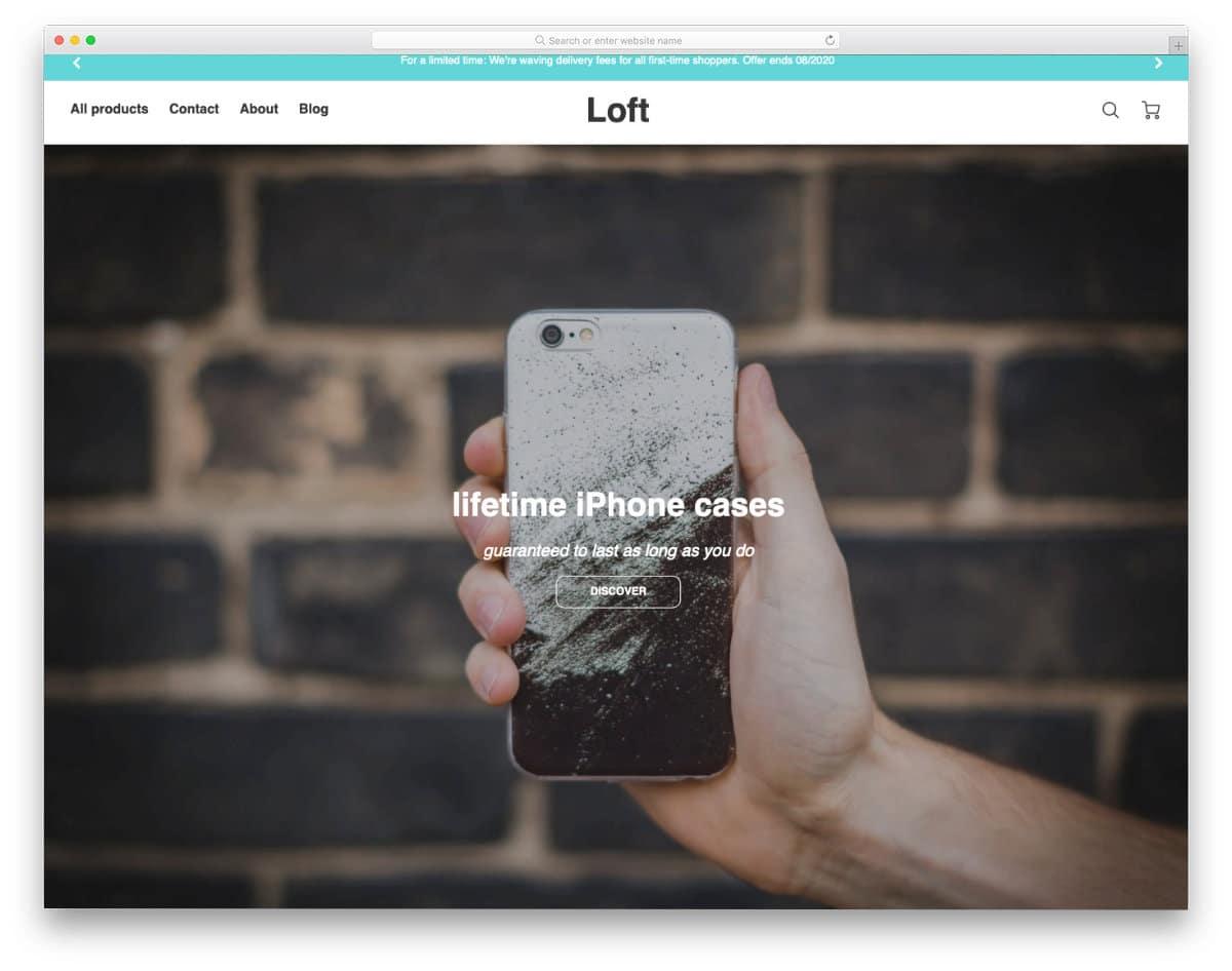 shopify theme made using latest web develpoment frameworks