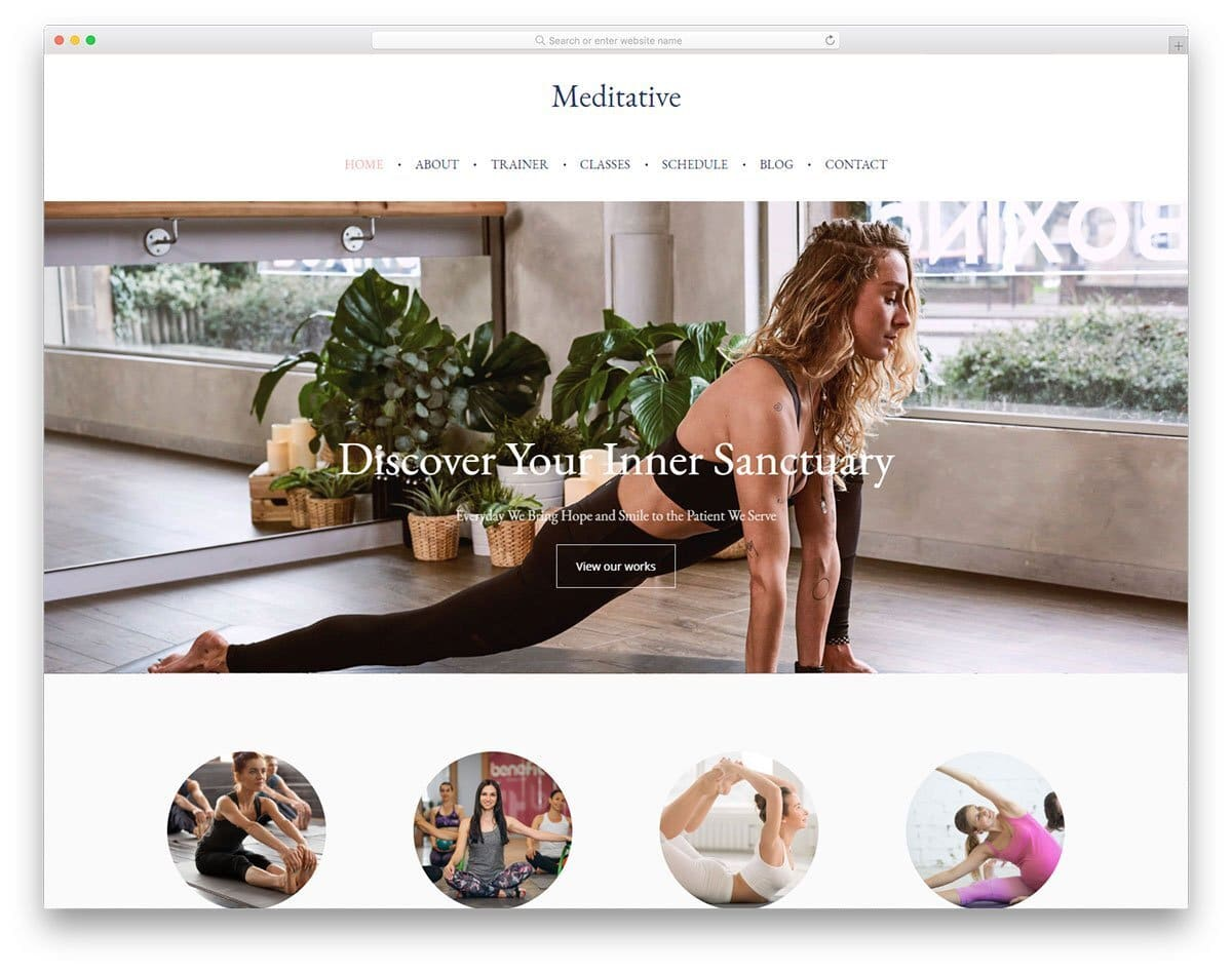 yoga studio and coach website template