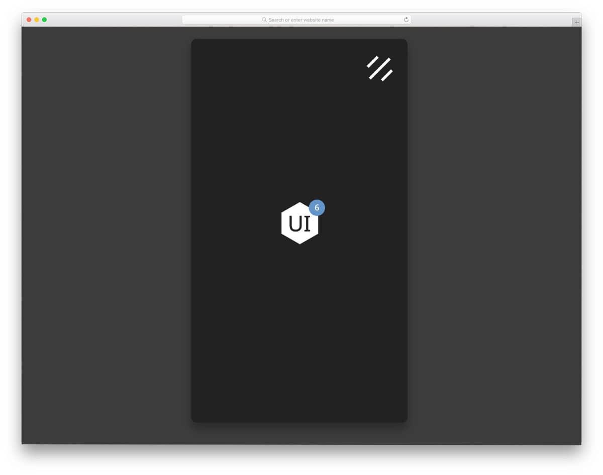 animated mobile menu design