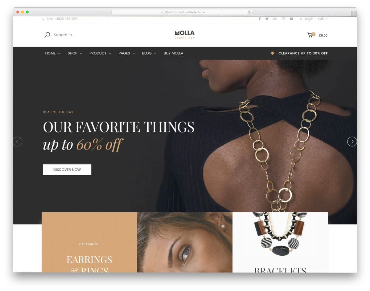 multipurpos theme with jewelry demo