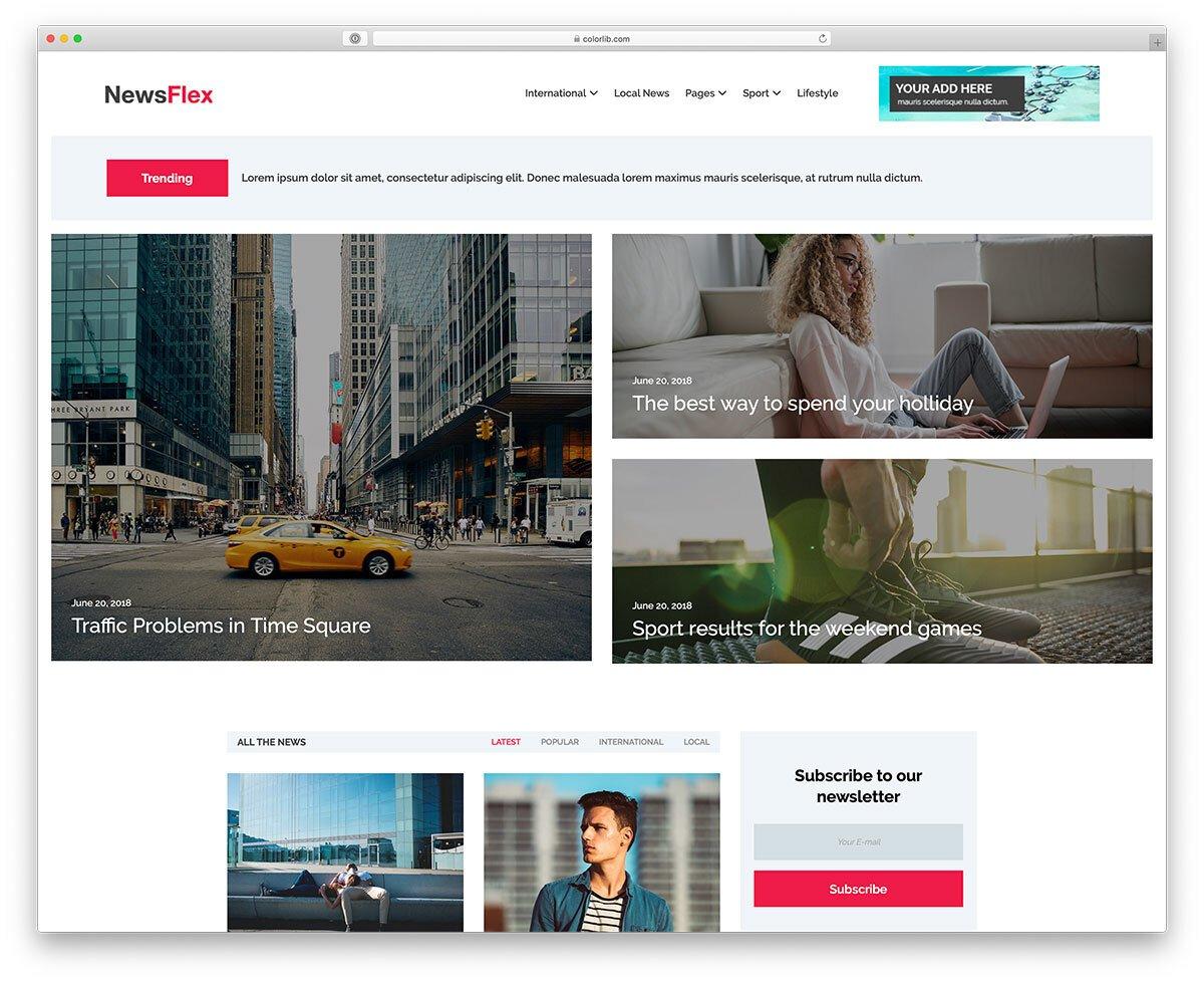 reader-friendly website template