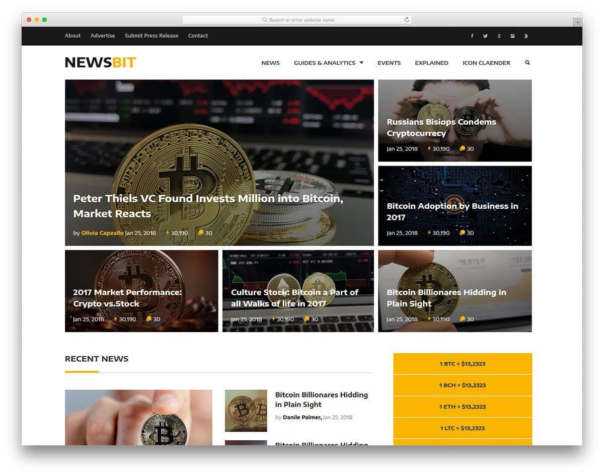 finance news website template