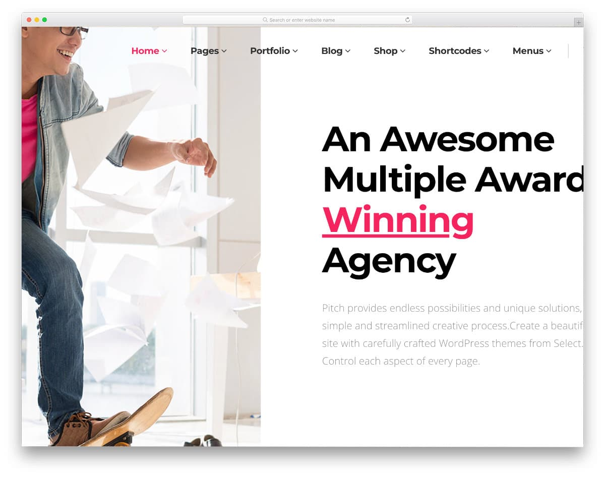attention-grabbing website template