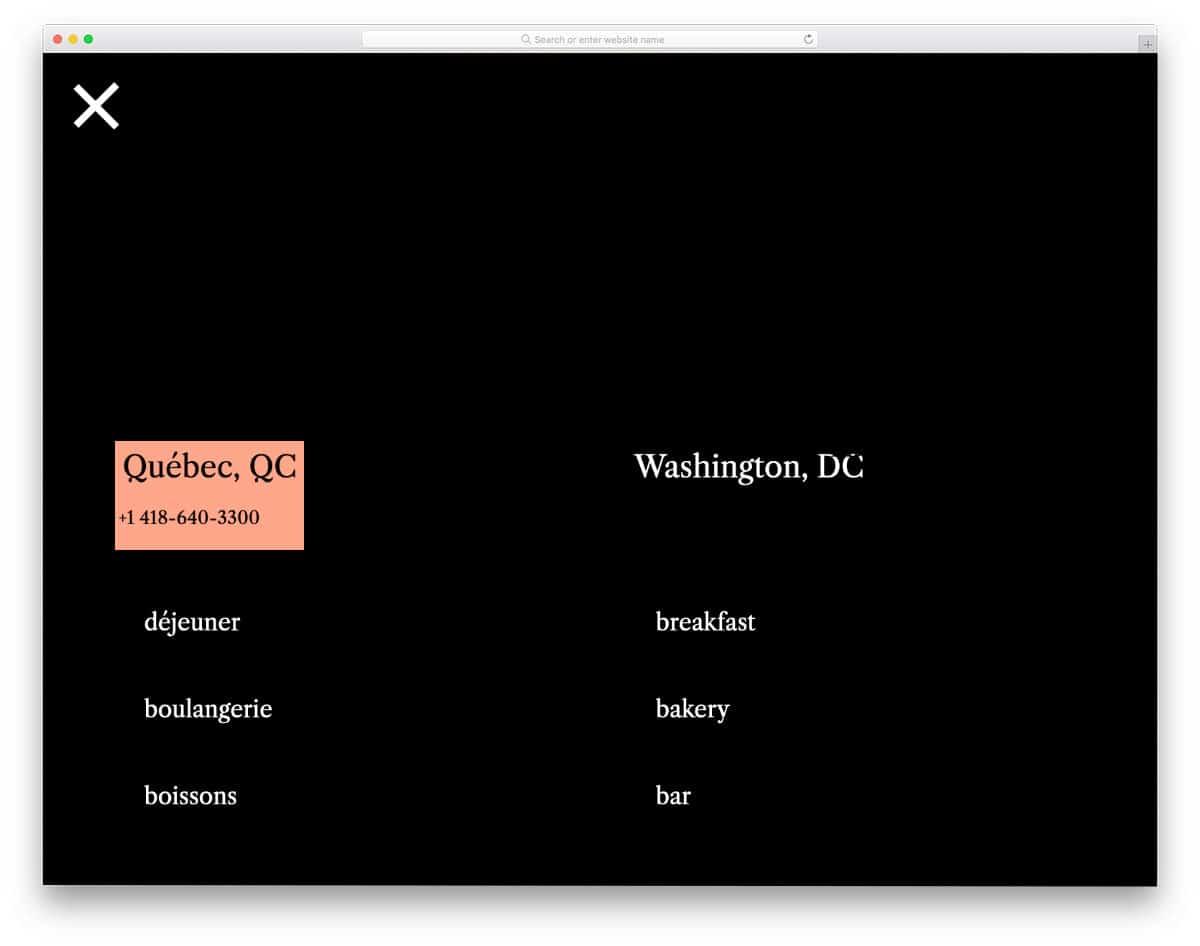 CSS menu with smart and sensible animation