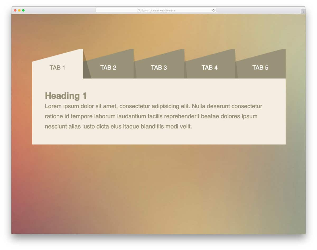 realistic bootstrap tab designs