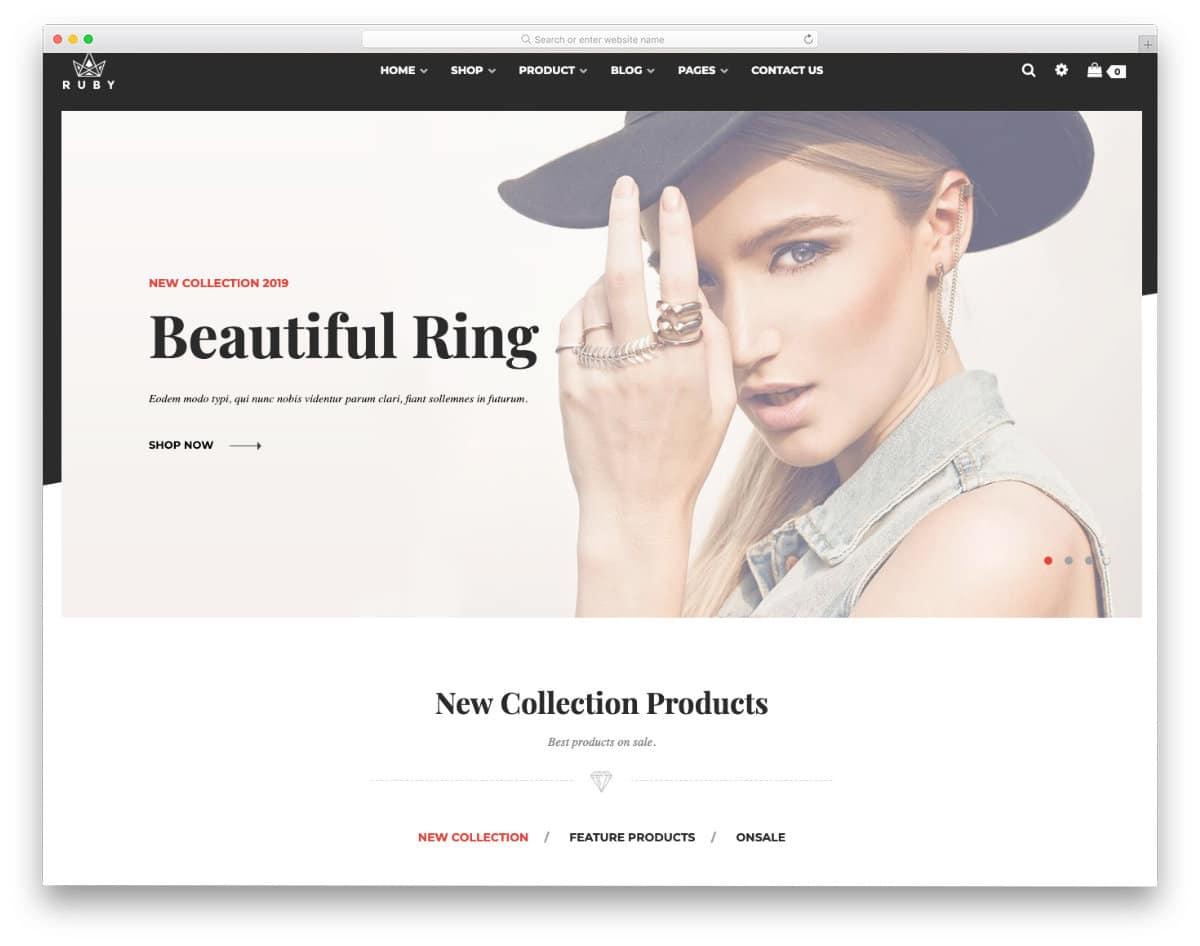 clean shopify jewelry theme