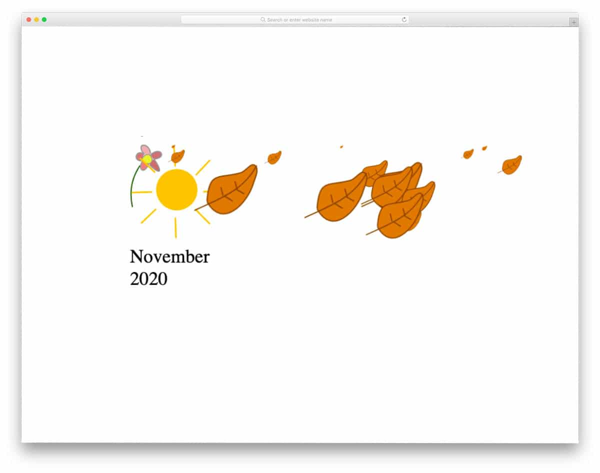 animated HTML calendar