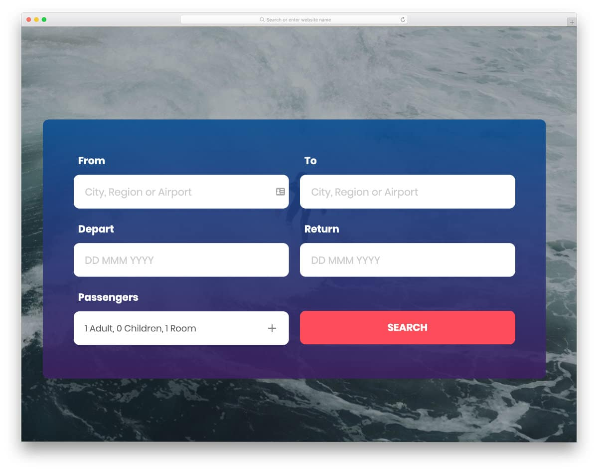 widget-style search form