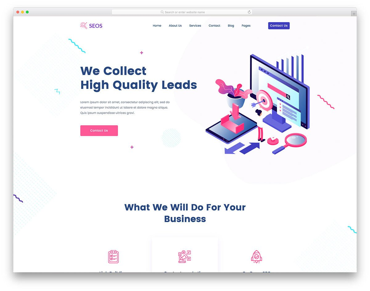 easy-to-edit SEO agency website template